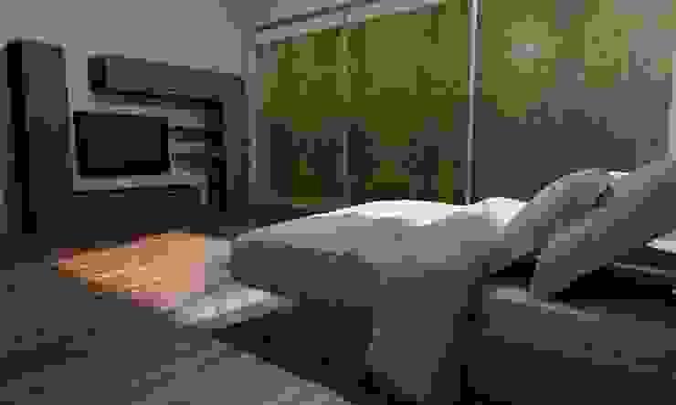 Casa Sin Rostro Dormitorios minimalistas de ARQUITECTURA MB&A Minimalista