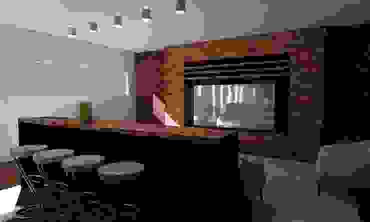 Casa Sin Rostro Salas multimedia minimalistas de ARQUITECTURA MB&A Minimalista