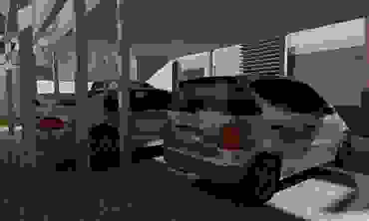 Casa Sin Rostro Garajes minimalistas de ARQUITECTURA MB&A Minimalista