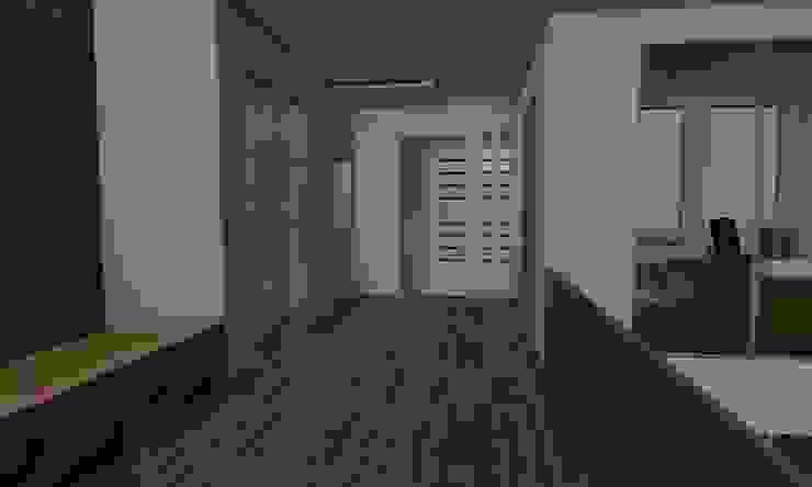 Casa Sin Rostro Pasillos, vestíbulos y escaleras minimalistas de ARQUITECTURA MB&A Minimalista