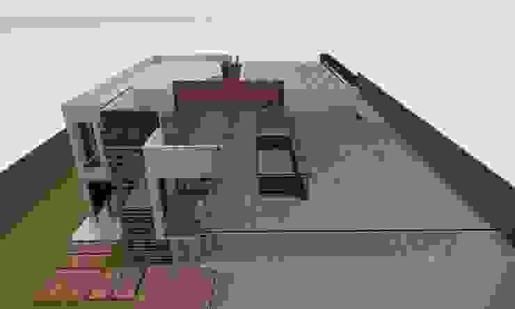 Casa Sin Rostro Balcones y terrazas minimalistas de ARQUITECTURA MB&A Minimalista