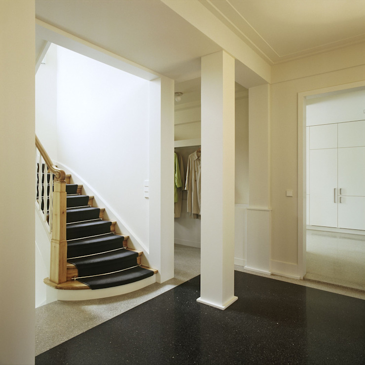 Terrazzo Peter Hess Classic style corridor, hallway and stairs Marble White