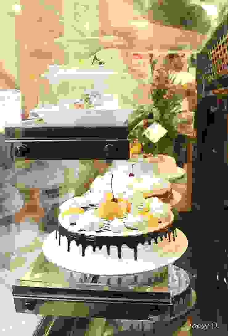 Vitrina de exhibición de tortas y postres de A3 Interiors Moderno