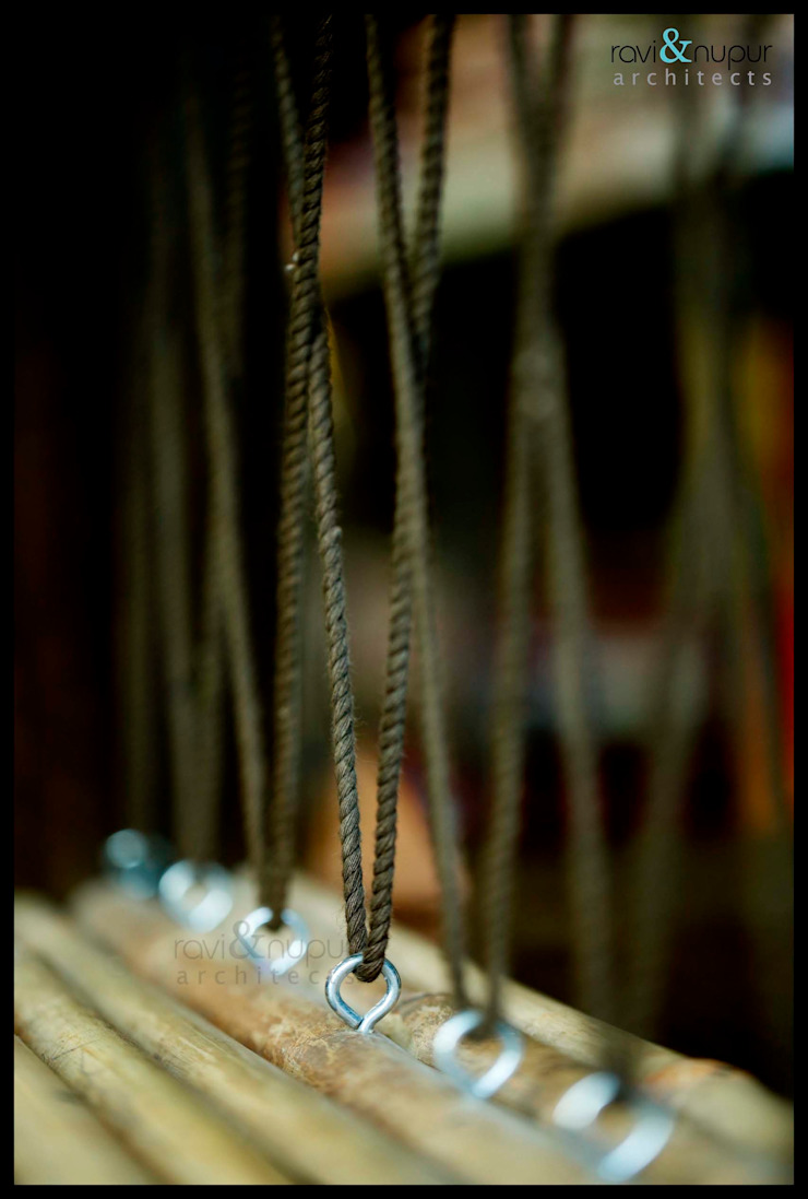 Rope Detail by RAVI - NUPUR ARCHITECTS Rustic
