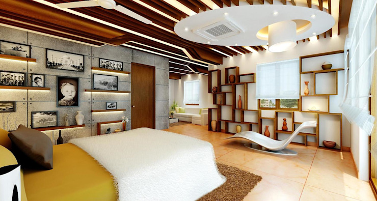 Mr. Ramesh Residence at Neyveli Dwellion Modern Bedroom