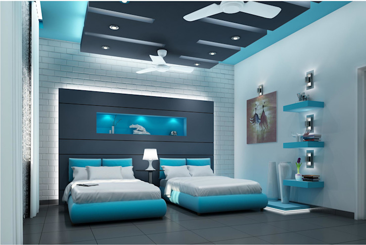 Mr. Ramesh Residence at Neyveli Modern style bedroom by Dwellion Modern