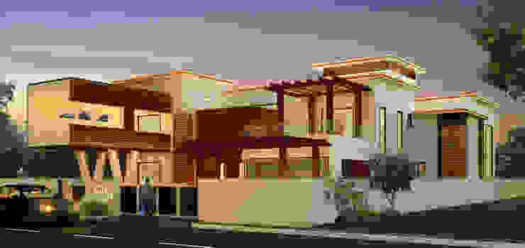 Mr. Ehiya Residence at Tanjore Modern houses by Dwellion Modern