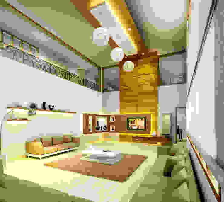 Mr. Ehiya Residence at Tanjore:  Living room by Dwellion
