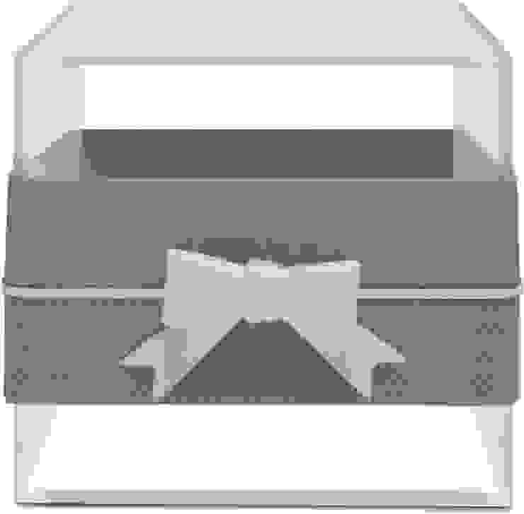 MULTI-USE BOX WITH RIBBON BLUE/GREY por Manuela Bento Decor Moderno Plástico