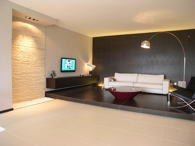 Alfonso D'errico Architetto Modern Living Room
