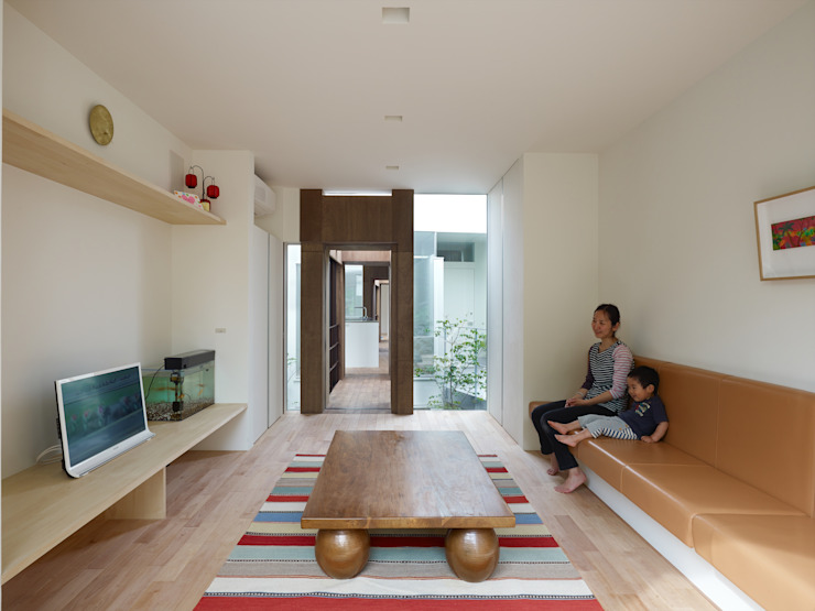 藤原・室 建築設計事務所의  거실, 모던