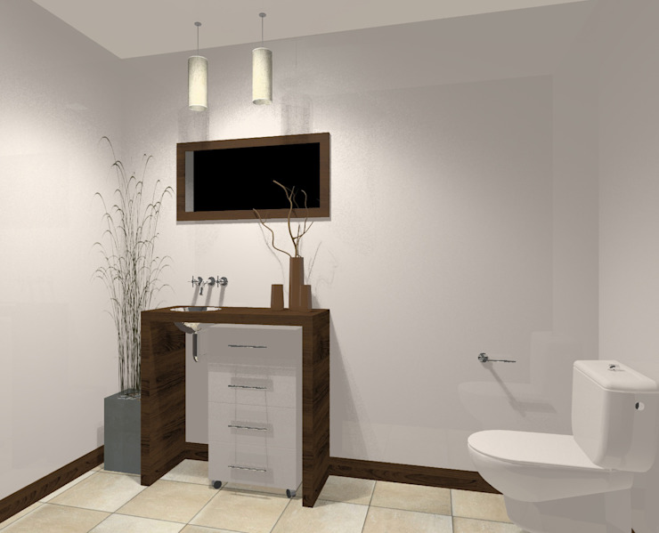 Moderne Badezimmer von laura zilinski arquitecta Modern