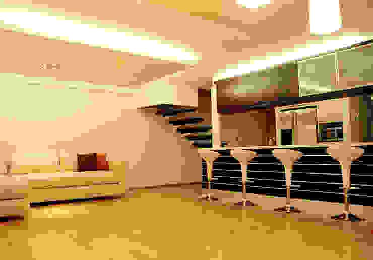 AH - RIMA Arquitectura Salones modernos de RIMA Arquitectura Moderno Madera Acabado en madera