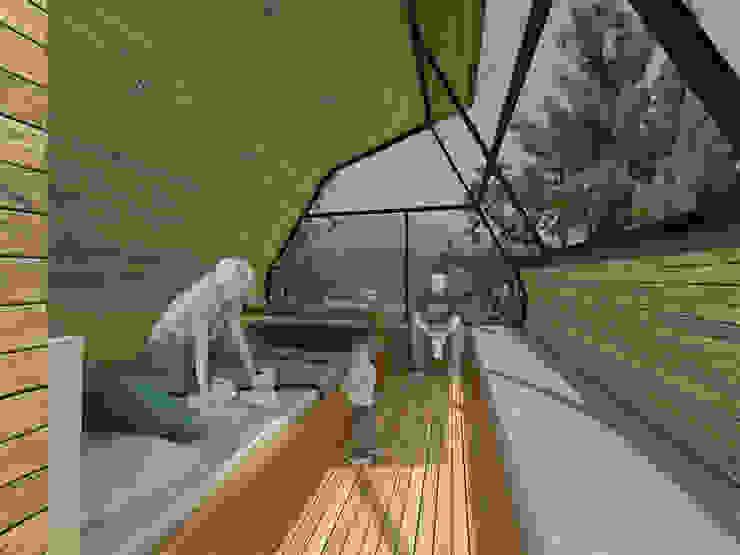 Casa del Árbol - RIMA Arquitectura Balcones y terrazas modernos de RIMA Arquitectura Moderno