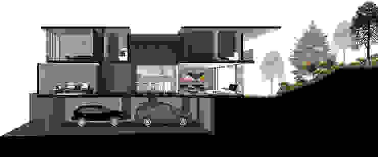 Casa Bosque Real - RIMA Arquitectura Garajes modernos de RIMA Arquitectura Moderno