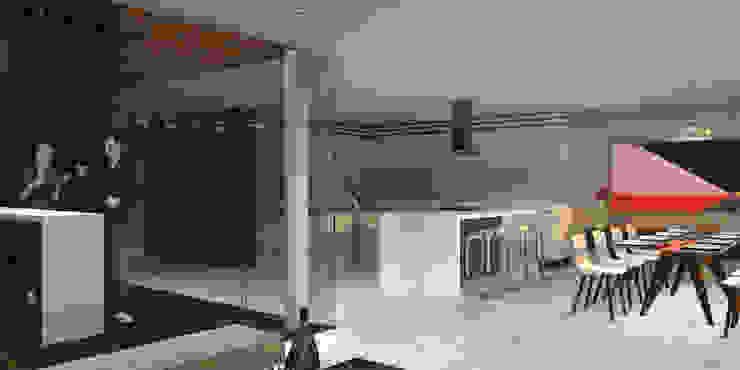 Casa Bosque Real - RIMA Arquitectura Pasillos, vestíbulos y escaleras modernos de RIMA Arquitectura Moderno