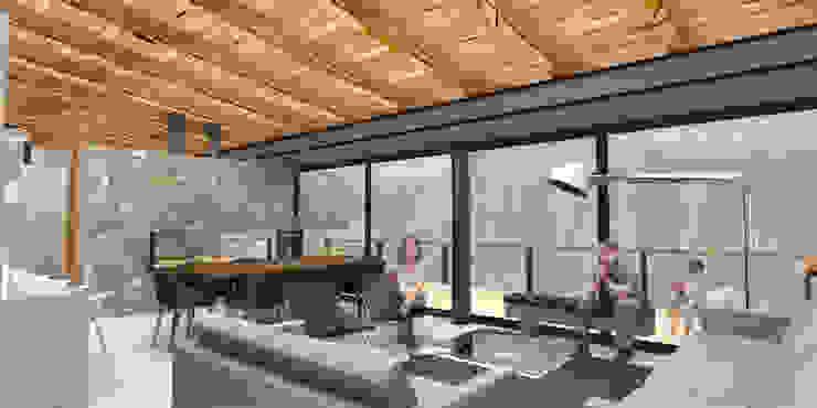 Casa Valle Monte - RIMA Arquitectura Salones modernos de RIMA Arquitectura Moderno