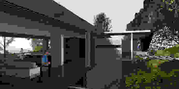 Casa Valle la Peña - RIMA Arquitectura Balcones y terrazas modernos de RIMA Arquitectura Moderno