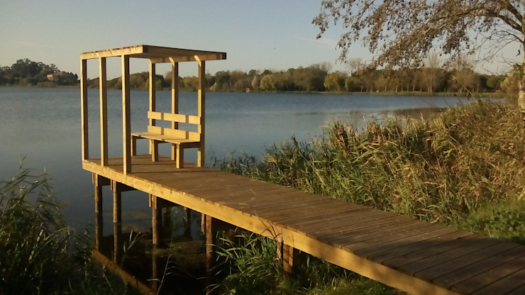 Projecto de Reordenamento, Requalificação e Valorização da Barrinha e Lagoa de Mira e Lago do Mar Jardins modernos por EPCA Moderno