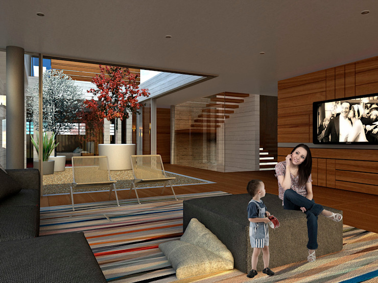 Bacatete - RIMA Arquitectura Salones modernos de RIMA Arquitectura Moderno