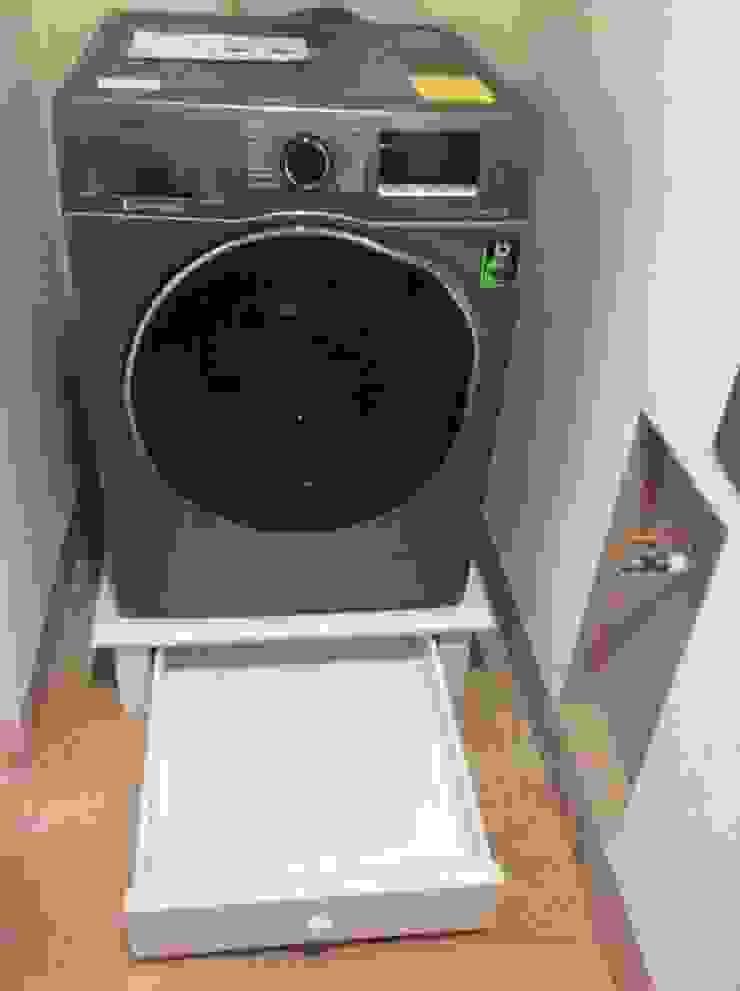 Base para lavadora tipo cajon de Natureflow® Clásico Madera Acabado en madera