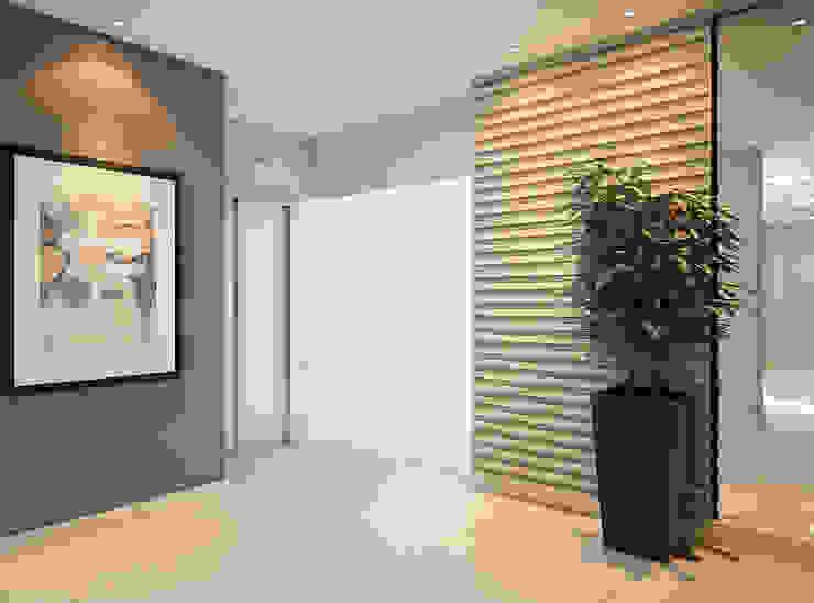 Pasillos, vestíbulos y escaleras de estilo moderno de Tárcyla & Savane Arquitetas Associadas Moderno