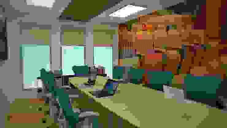 Sala de juntas Salas multimedia modernas de Ingenieros y Arquitectos Continentes Moderno