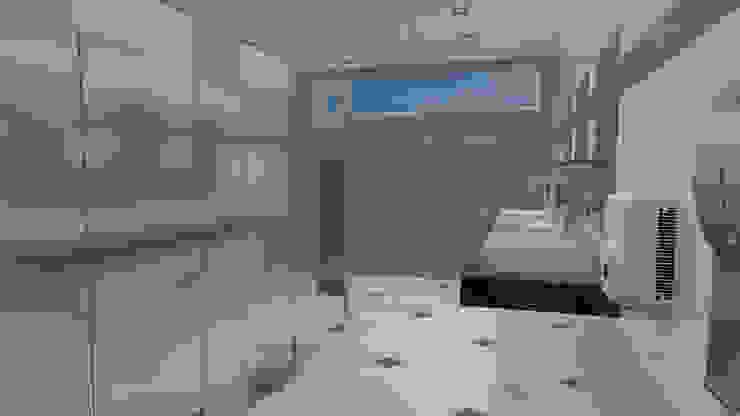 Baño publico dentro del corporativo Baños modernos de Ingenieros y Arquitectos Continentes Moderno