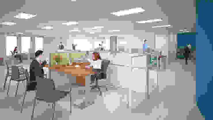 Área gerencial Estudios y despachos modernos de Ingenieros y Arquitectos Continentes Moderno