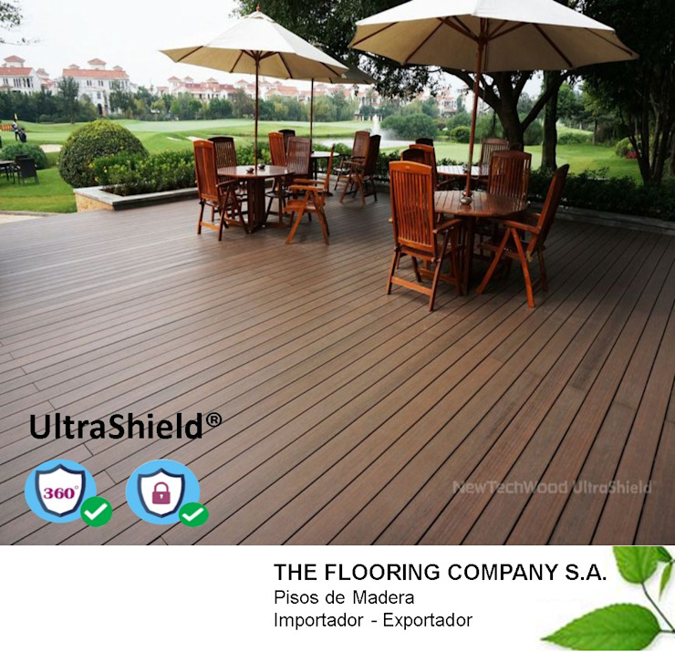 DECKS NEW TECHWOOD ULTRASHIELD de THE FLOORING COMPANY S.A Moderno Sintético Marrón