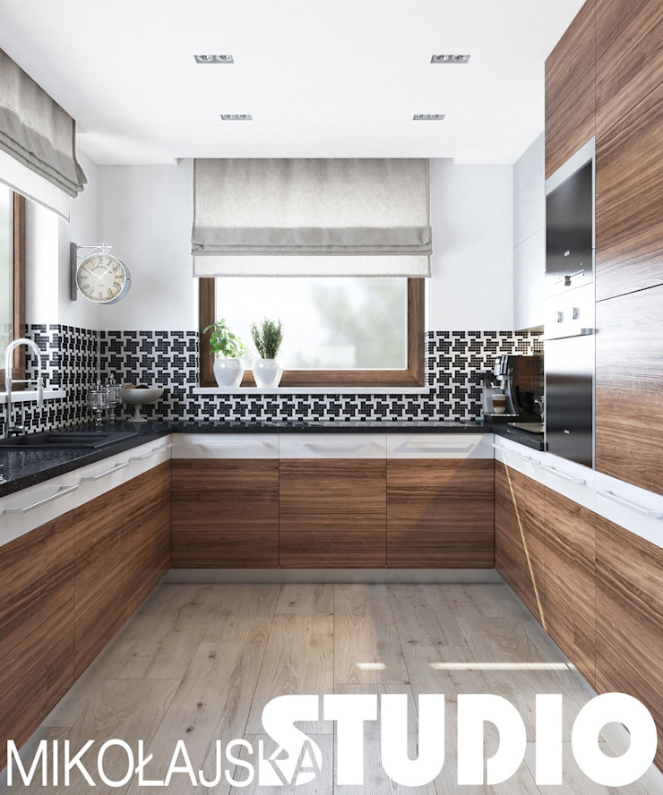 new york style kitchen od MIKOŁAJSKAstudio