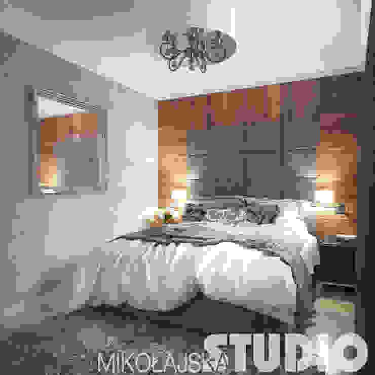 new york style bedroom od MIKOŁAJSKAstudio