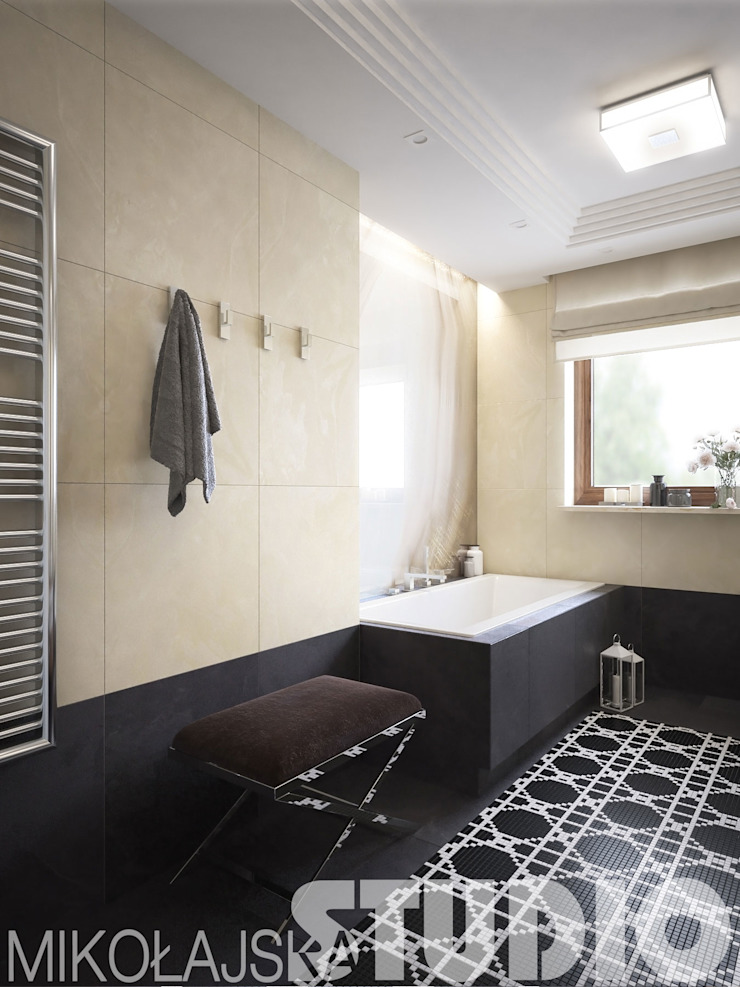 klasyczna łazienka od MIKOŁAJSKAstudio