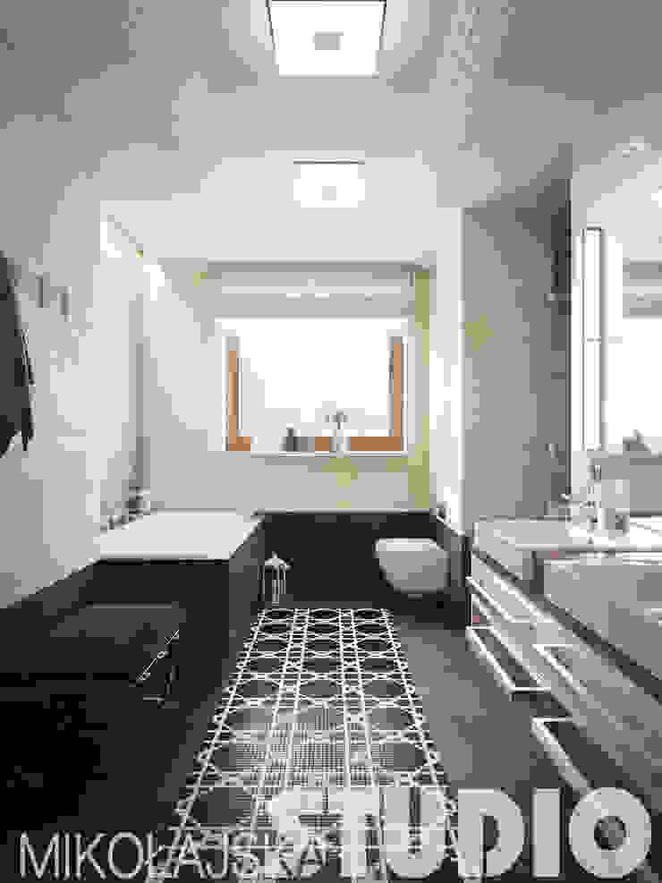 łazienka kontrasty od MIKOŁAJSKAstudio