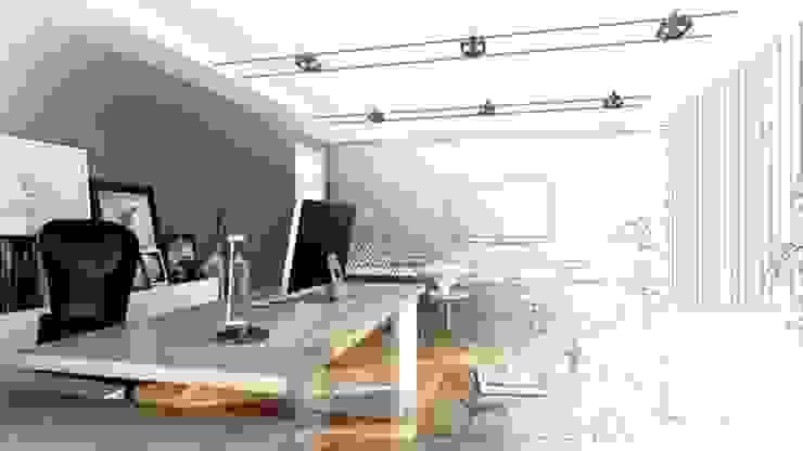 CANSEL BOZKURT  interior architect – Ofis tasarım çalışması: modern tarz , Modern Taş