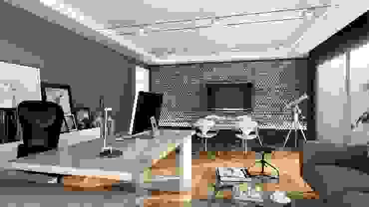CANSEL BOZKURT  interior architect – Ofis tasarım çalışması: modern tarz , Modern Ahşap Ahşap rengi