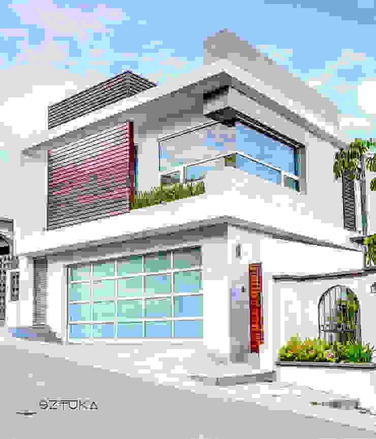 Fachada Principal Casas modernas de SZTUKA Laboratorio Creativo de Arquitectura Moderno Concreto