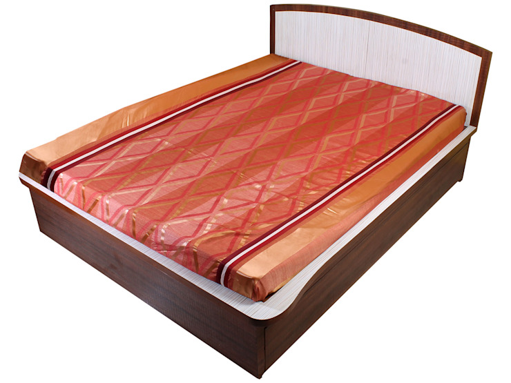 Dreamscape Polycotton Orange Geometric Bedcover: classic  by FurnishTurf,Classic Synthetic Brown