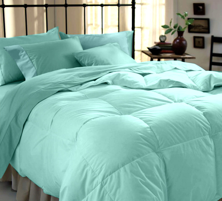 Cotton Rich Sateen Sea Green Double High thread count 500TC bed Sheet with 2 pillow covers: asian  by FurnishTurf,Asian Textile Amber/Gold