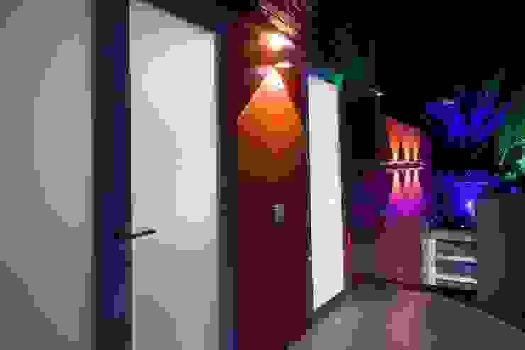 Terraza PH El Peñon Pasillos, vestíbulos y escaleras de estilo moderno de Objetos DAC Moderno