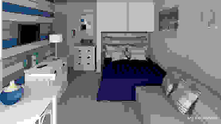 Dormitorios de estilo  por MJ Intérieurs,