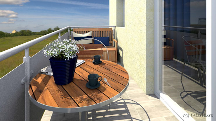Balcone, Veranda & Terrazza in stile moderno di MJ Intérieurs Moderno