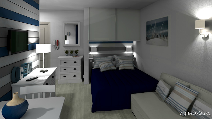 Modern style bedroom by MJ Intérieurs Modern