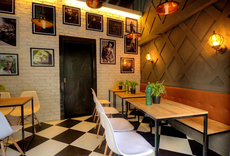 CAFE IN MUMBAI Modern gastronomy by HK ARCHITECTS Modern