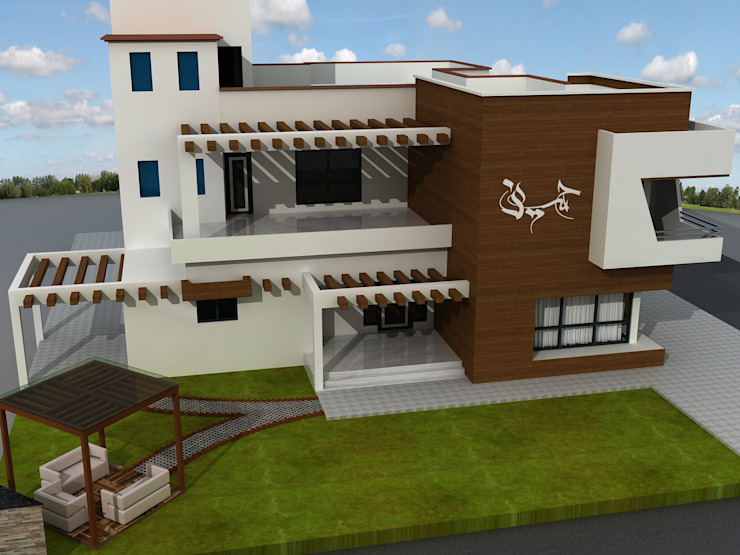Mr.Javed Asian style houses by Shadab Anwari & Associates. Asian