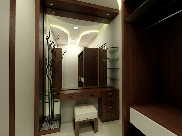 Dressing room by Shadab Anwari & Associates.,