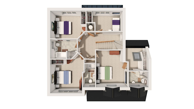 Architectural 3D Floor Plans... de Alive Visualisation
