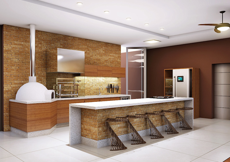 Cocinas modernas de Lozí - Projeto e Obra Moderno