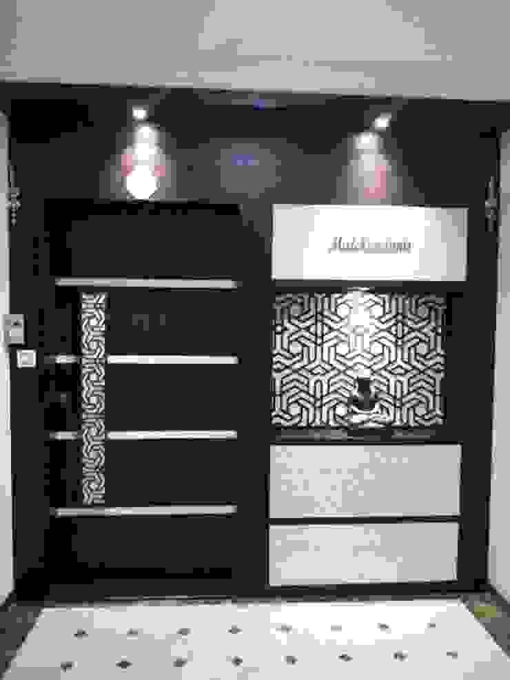 enterance Modern living room by NCA naresh chandwani & associates Modern MDF