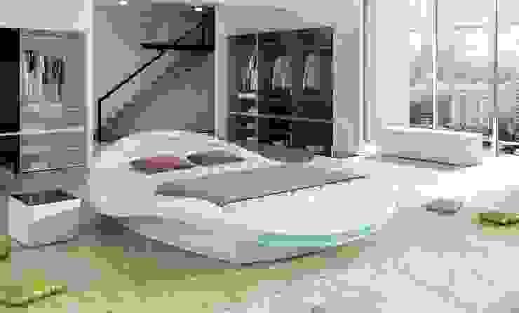 Lit design avec éclairage LED - Obrad par homify Moderne